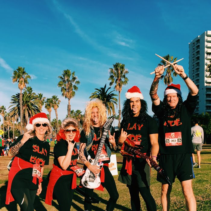 FAST TIMES AT THE SANTA MONICA-VENICE CHRISTMAS RUN - COLLEEN WELSCH