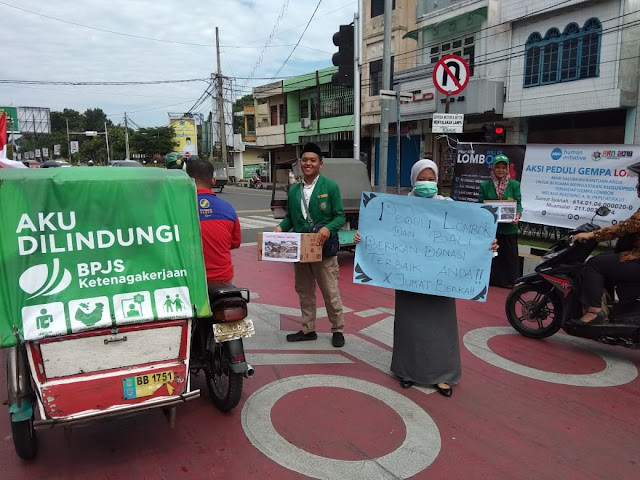 Peduli Korban Gempa Di Lombok Dan Bali, Mahasiswa UIN-SU Galang Dana