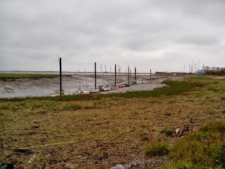 Llegando a Burnham-on-Sea justo en la desembocadura del río