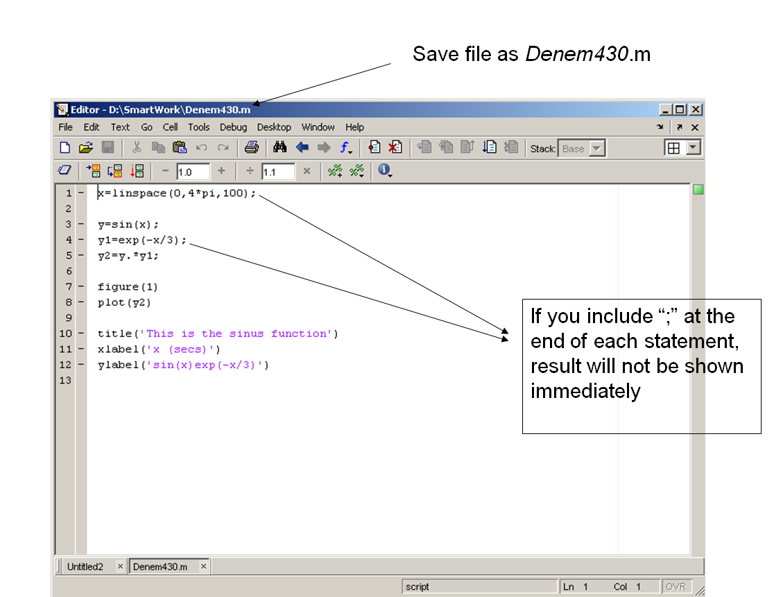 Matlab Functions and their uses | All For Students