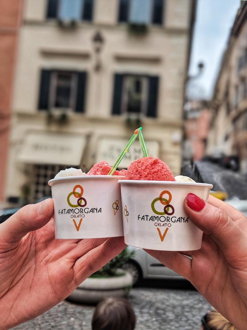 Fatamorgana's famous vegan gelato