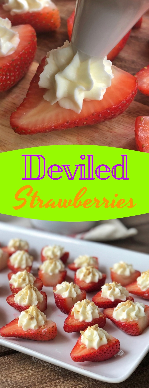 Deviled Strawberries #strawberry #appetizer