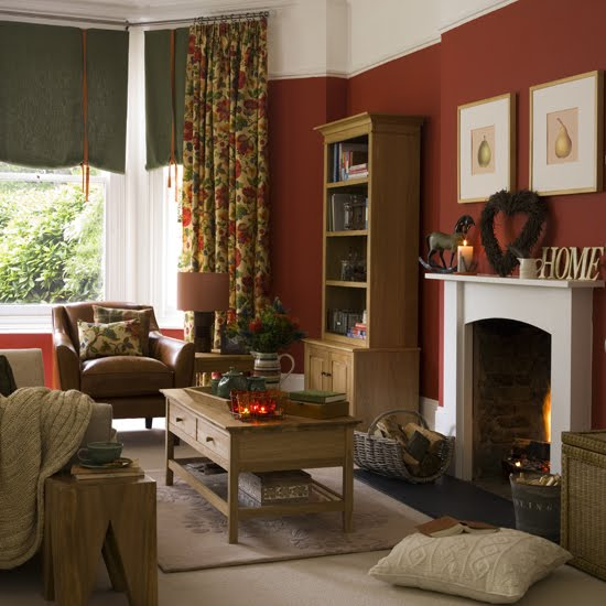 Home And Garden Exclusive Country Living Room Design