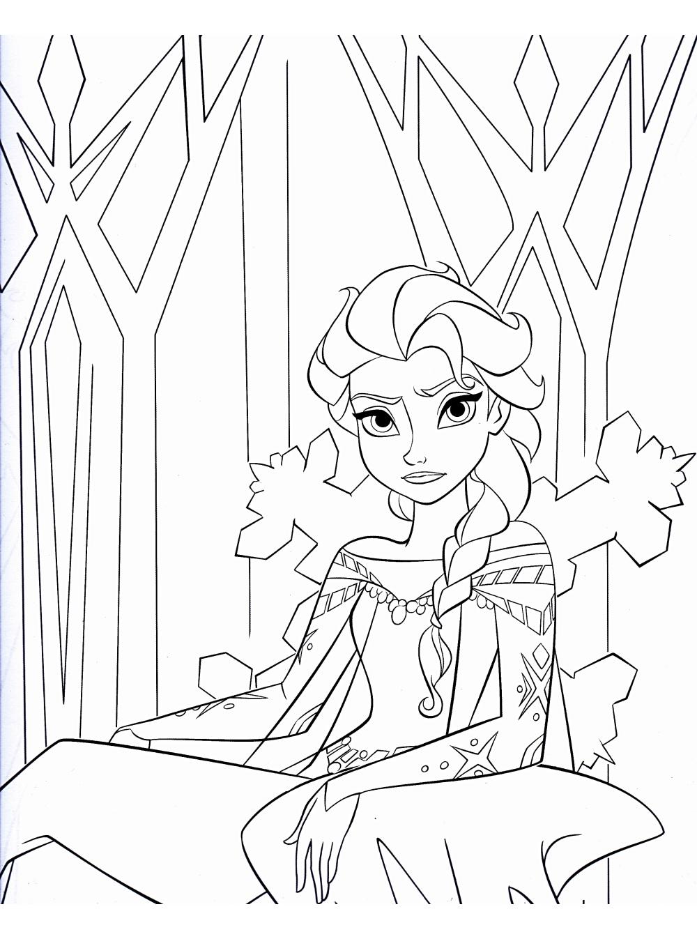 Tranh tô màu Elsa 13