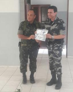 9º BPM recebe visita do Comandante do 31º Batalhão de Infantaria Motorizado