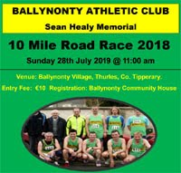 10 mile race in Tipperary - Sun 28th July 2019
