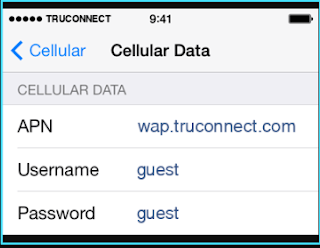 New TruConnect apn settings iPhone