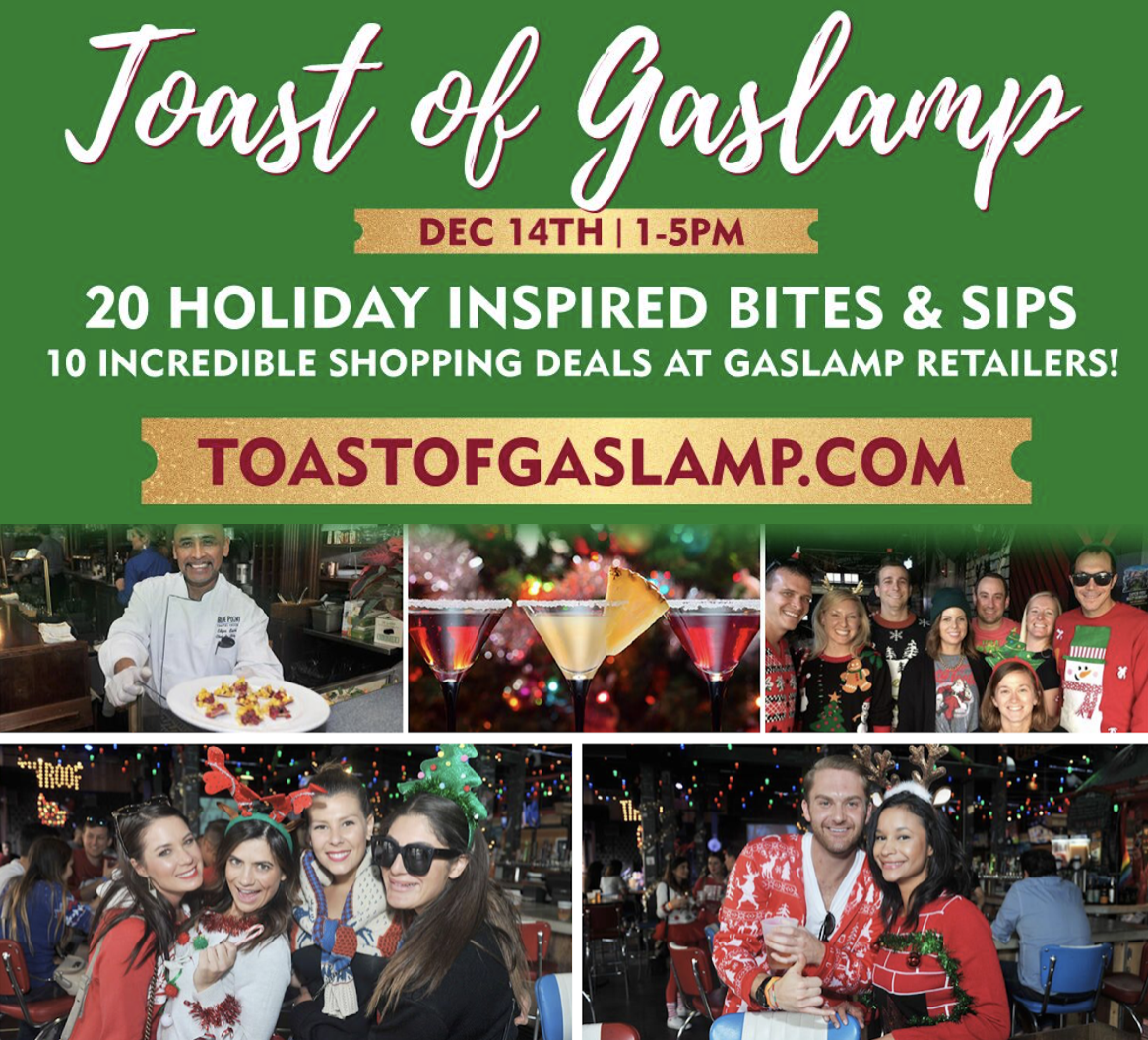 Save on passes & Enter to win tickets to 6th annual Toast Of Gaslamp on December 14!