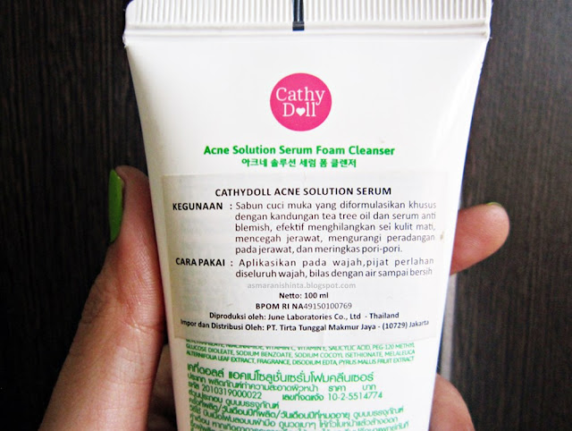 cathydollacnesolutionserumfoamcleanser