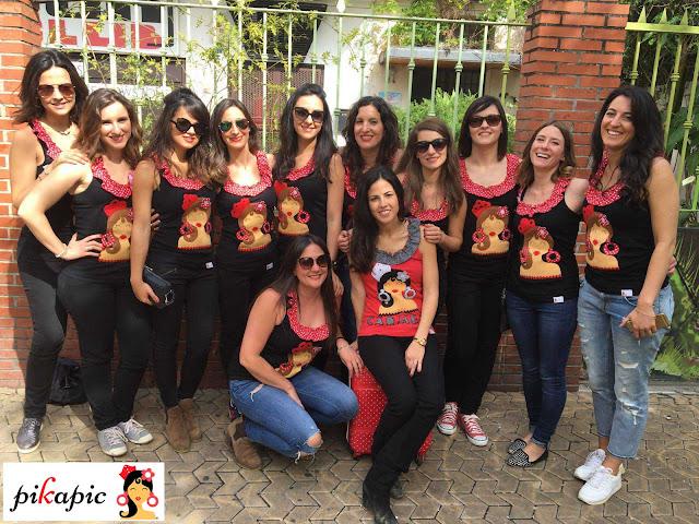 Despedida de soltera flamenca en la feria de abril de Sevilla