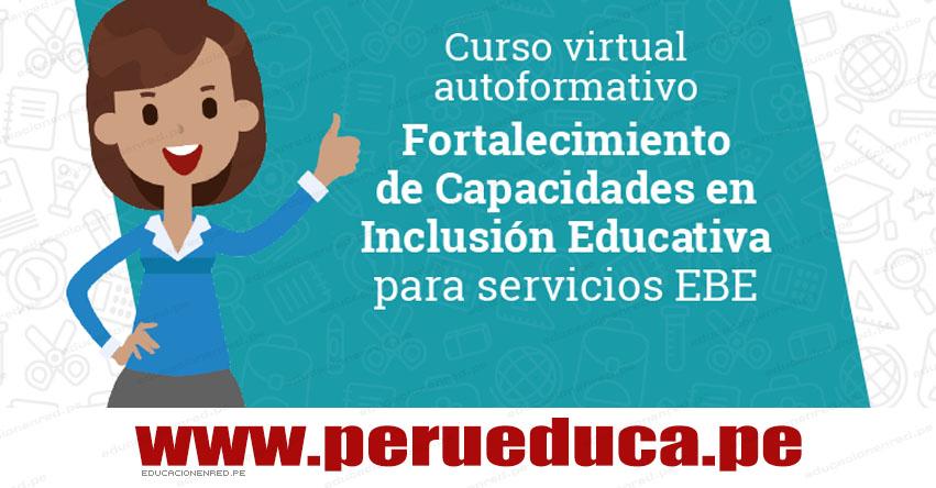 CURSO VIRTUAL: Fortalecimiento de Capacidades en Inclusión Educativa para los Servicios de EBE - www.perueduca.pe