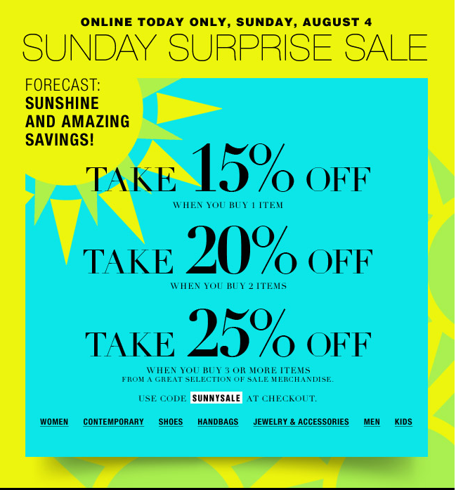 Vicky's Daily Fashion Blog: Today Only: Bloomingdale's