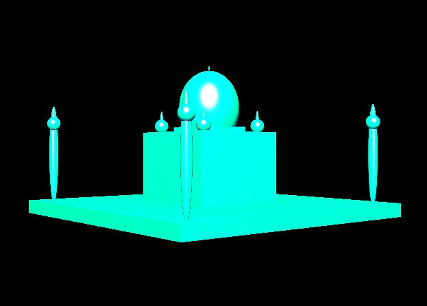 Line Drawing Algorithm Using Opengl : Build taj mahal mini projects in opengl computer graphics