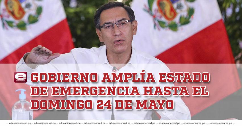 CORONAVIRUS EN PERÚ: Gobierno amplía el estado de emergencia hasta el domingo 24 de mayo