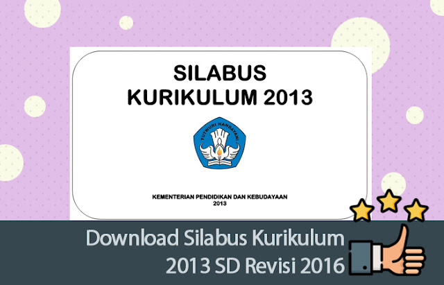 Silabus Kurikulum 2013 SD Revisi 2016