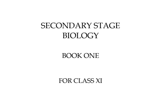 11th class Biology Notes Sindh Boards - 1st Year Biology