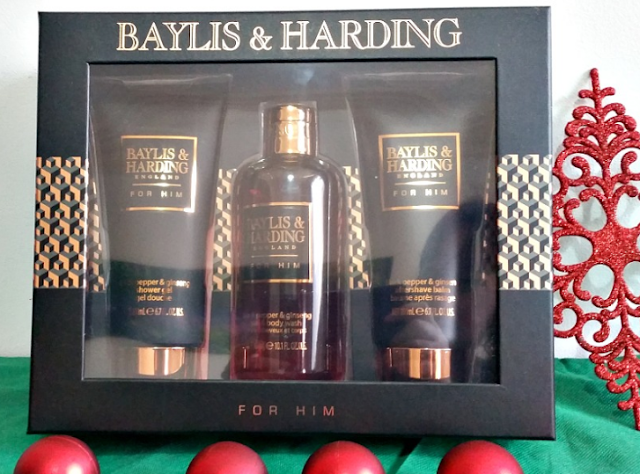 3 bottles of Black Pepper & Ginseng products in a beautiful black and gold box