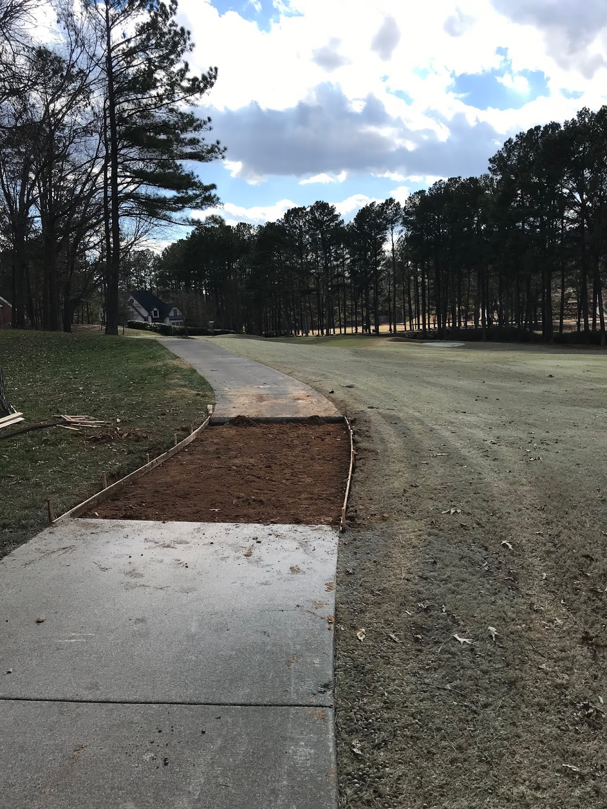 Marietta Country Club Grounds: Concrete work this week