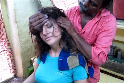 World's Greatest Head Massage - Eliana (ASMR Barber) meets Baba