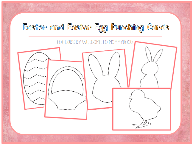Spring activities: Montessori inspired Easter pin punching printables by Welcome to Mommyhood #montessoriactivities #preschoolactivities #springactivities