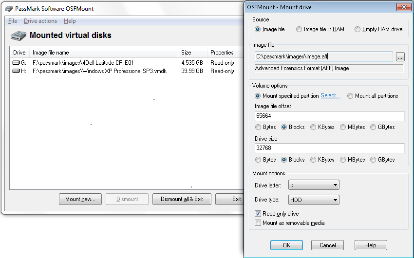 PassMark OSFMount v2.0.1001 Portable