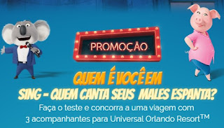 Promoção Telecine Filme Sing 2017 Quem É Você Em Sing