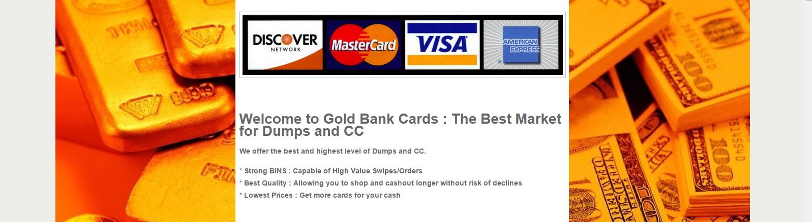 Goldbankcards com Dumps and Cvv Market: Goldbankcards com