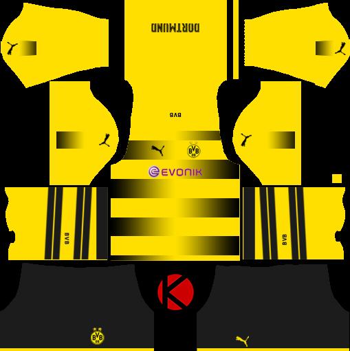 Borussia Dortmund Kits 2017/2018 - Dream League Soccer
