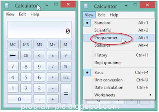 Calculator mode to Programmer