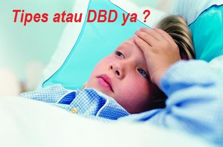 cara membedakan sakit tipes dan DBD