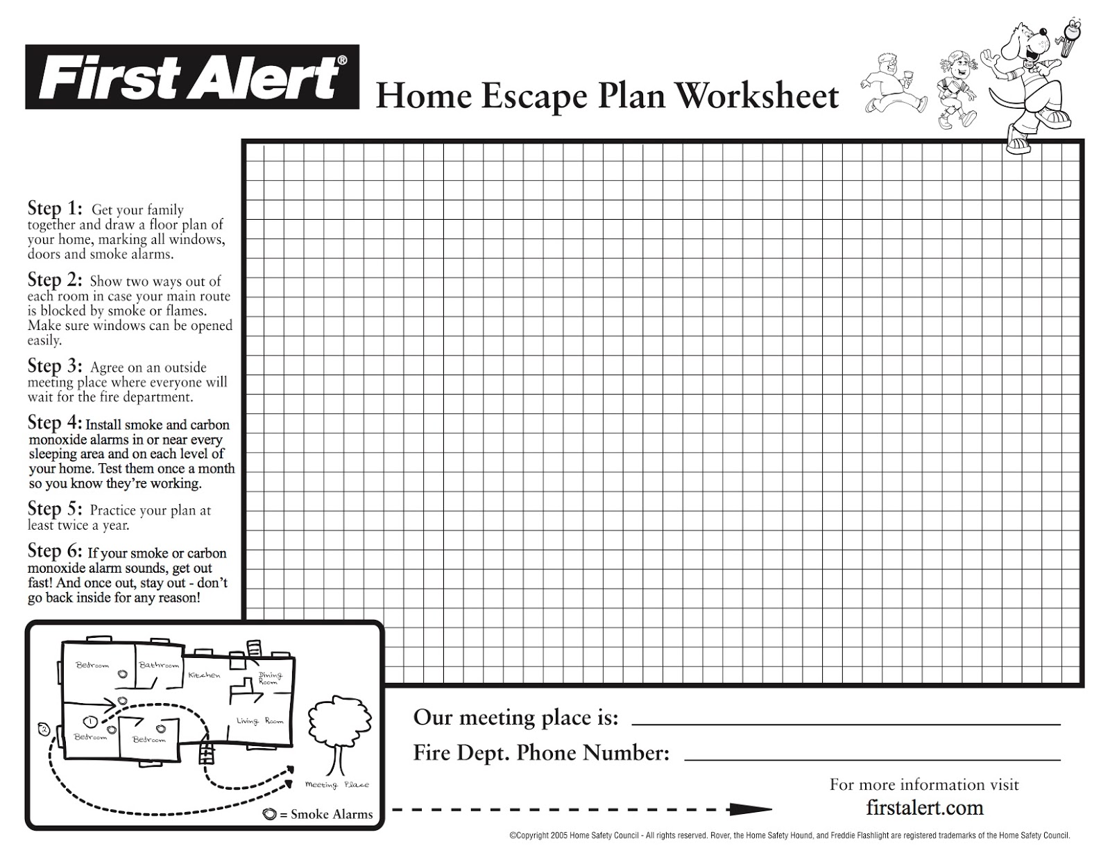 Prince george 39 s county fire ems department safety first for Fire escape plan worksheet