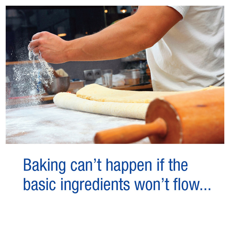 Baking can't happen if the basic ingredients won't flow...