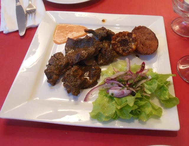 La Cocina Peruana, Randwick, ox hearts
