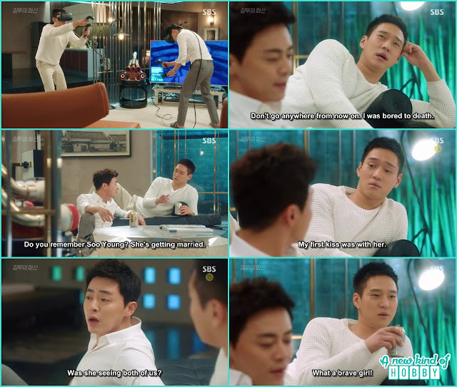 jung won and hwa shin talk about a girl who was dating both of them in th epast and her first kiss with them  - Jealousy Incarnate - Episode 3 Review - Hospital Encounter