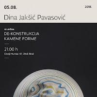 Dina Jakšić Pavasocić - Izložba De-konstrukcija kamene forme - Donji Humac slike otok Brač Online