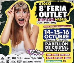 Vuelve Stock! 8ª Feria Outlet Madrid, los días 14, 15 y 16 de octubre de 2016