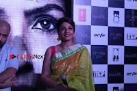Bollywood Actress Raveena Tandon in Transparent Green Saree at Trailer Launch Of Film Maatr  0020.JPG