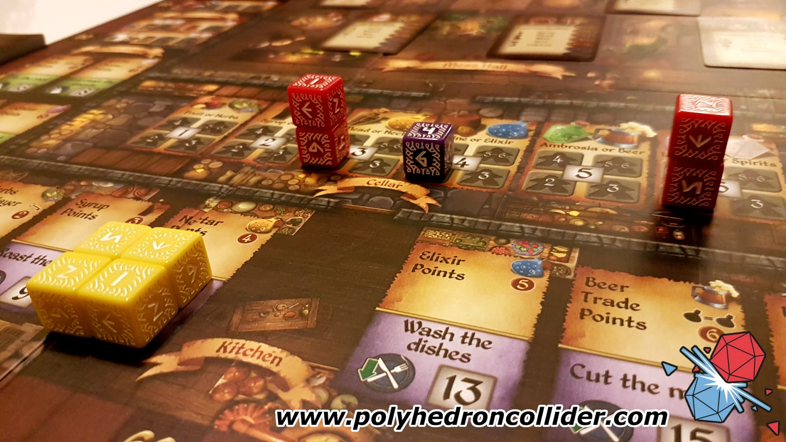 cavern tavern dice placement board game review