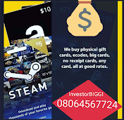 Sell Bitcoins & Convert All Your Gift Cards To Naira -InvestorBIGGI