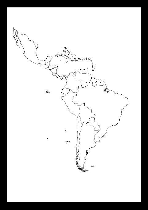 Centro America Cartina Politica.Mappa Muta Sud America Politica