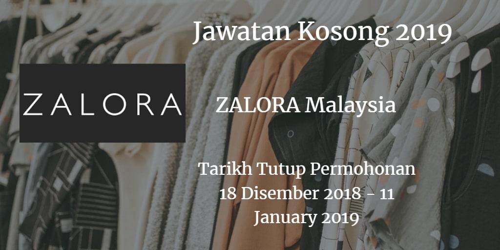 Jawatan Kosong ZALORA Malaysia 18 Disember 2018 - 11 January 2019