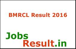 BMRCL Result 2016