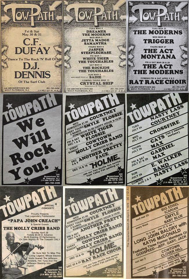 Towpath band line up ads