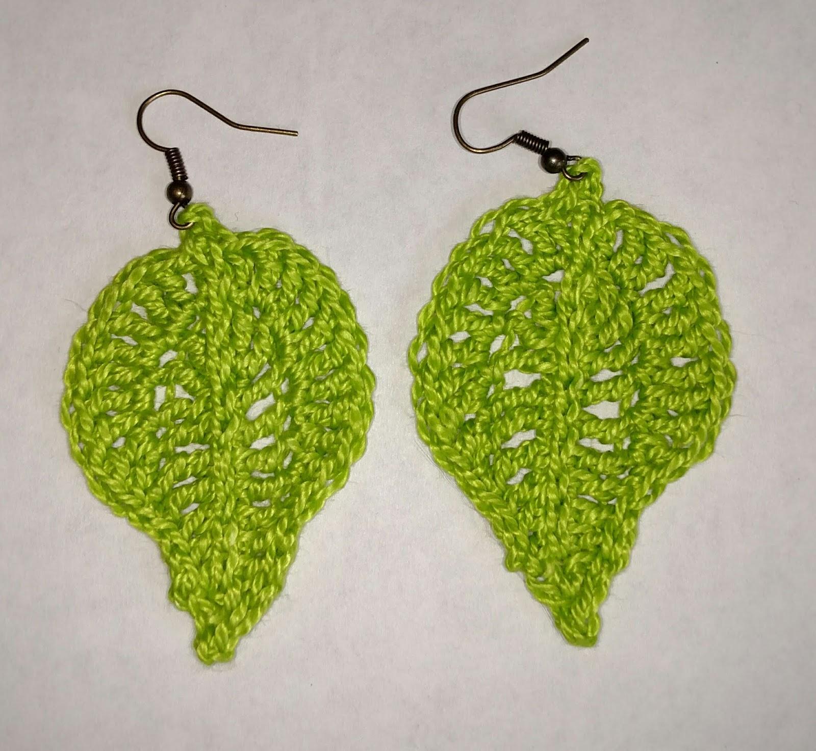 Karen Ilari Painting Large Leaf Earrings