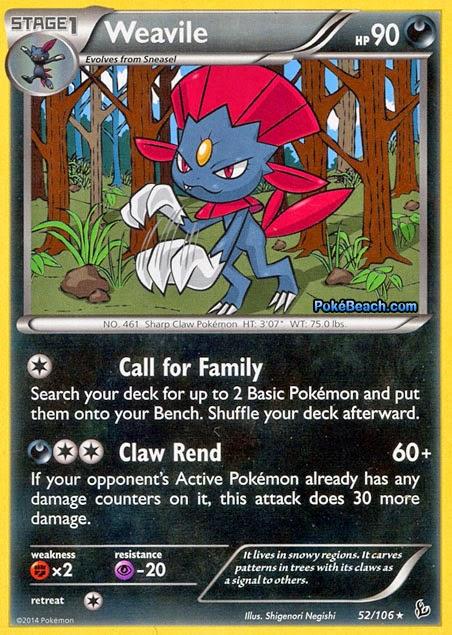 PrimetimePokemon's Blog: Weavile -- Flashfire Pokemon Card