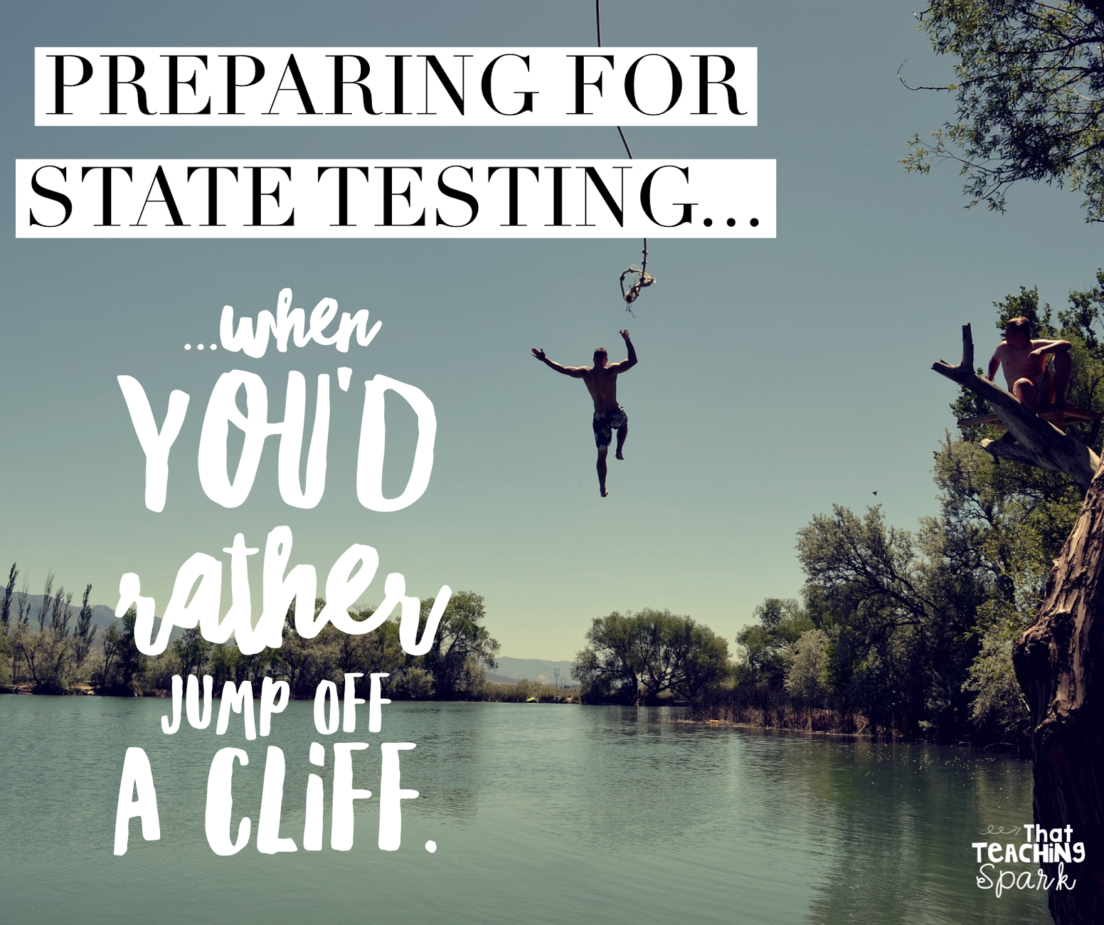 Preparing for State Testing... when you\'d rather jump off a cliff ...