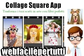 Collage Square App - Trasforma i tuoi scatti in arte con filtri perfetti