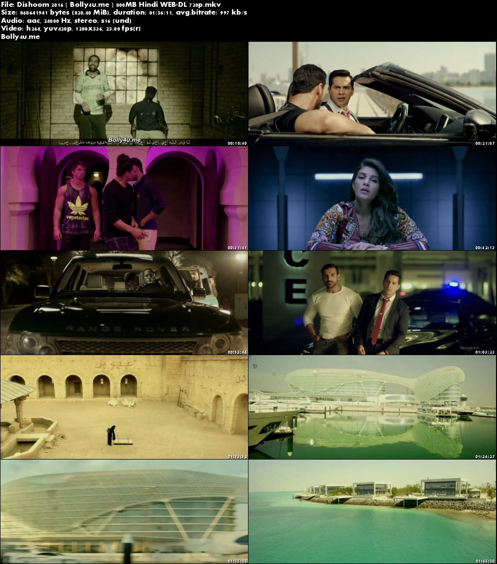 Dishoom 2016 WEB-DL 350MB Full Hindi Movie Download 480p