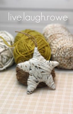 Live Laugh Rowe // Star Ornament