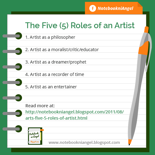 The Five (5) Roles of an Artist